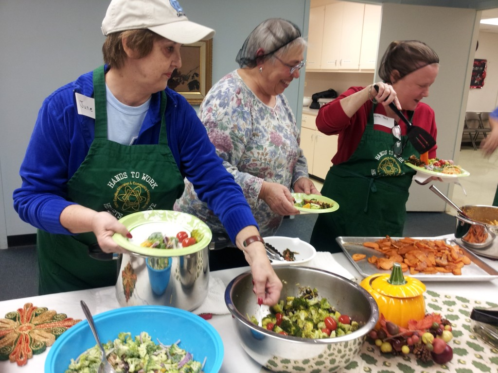 participants in Extension cooking class