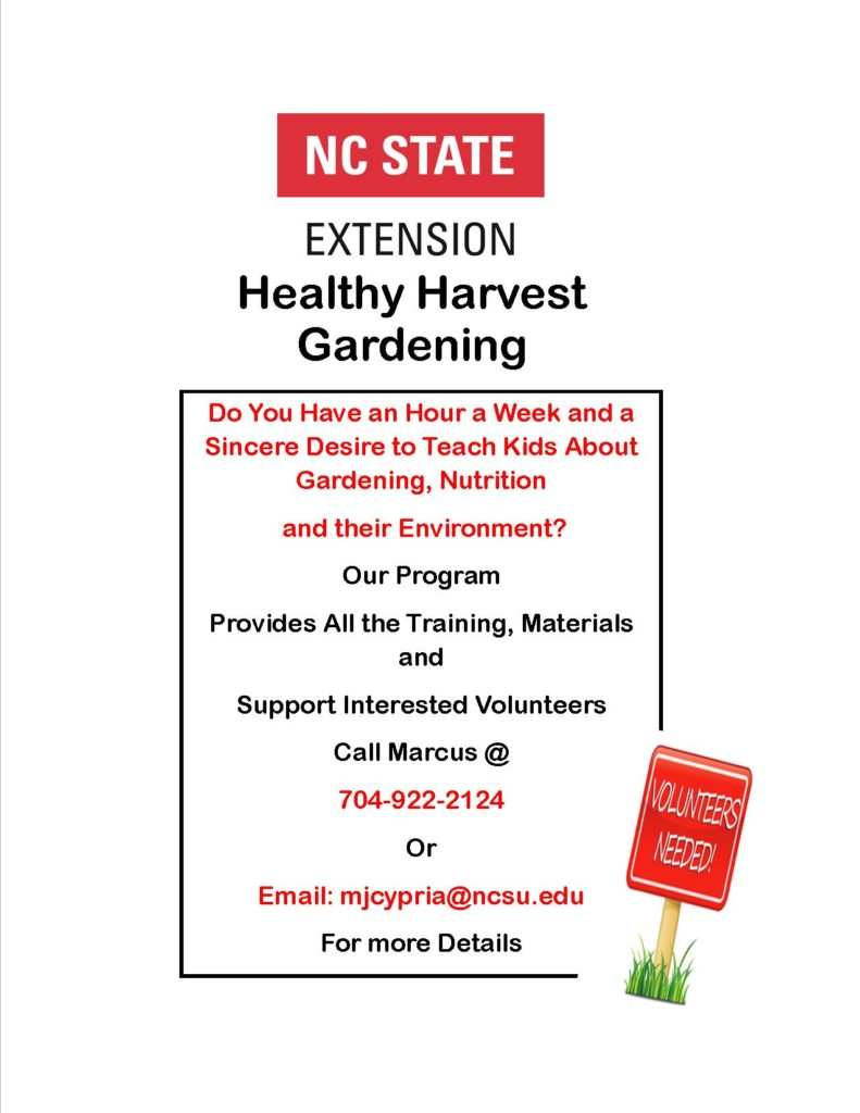Healthy Harvest Gardening flyer image