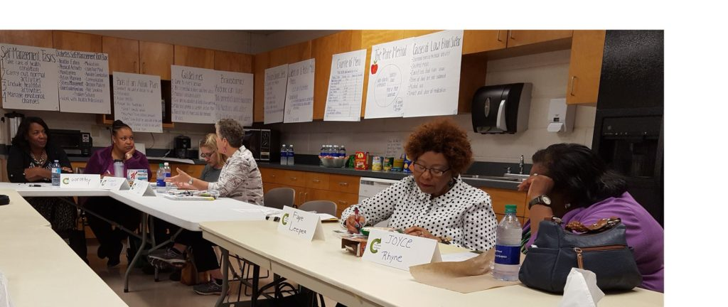 Image of women around a table