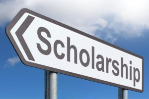 Image of scholarship sign