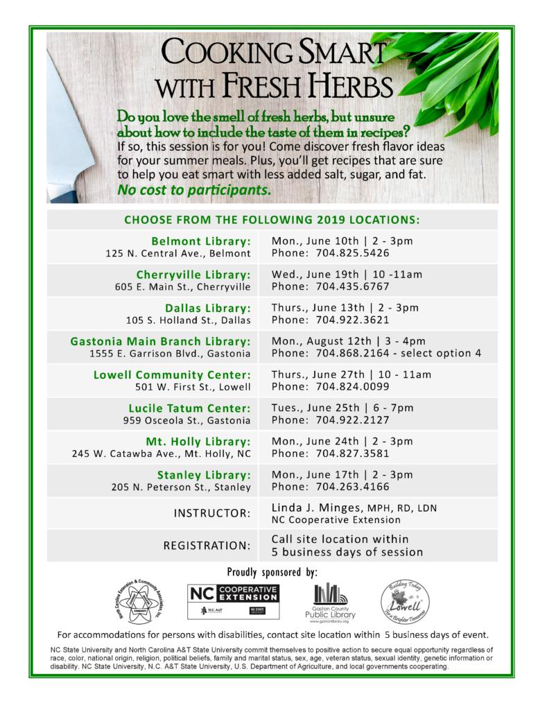 Class schedule flyer image