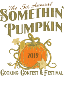 5th annual somethin' pumpkin cooking contest and festival logo