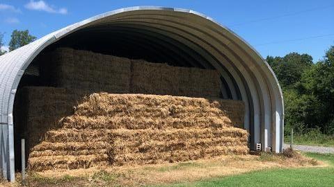 Rye Straw Storage