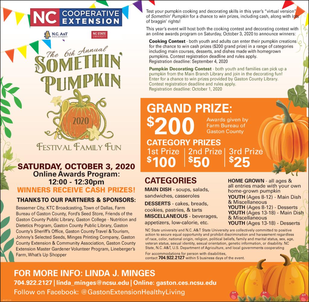 2020 gaston gazette ad for somethin pumpkin final