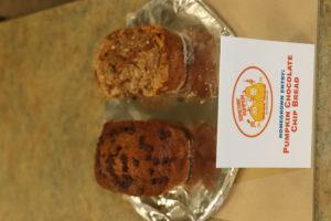 L Carpenter pumpkin chocolate chip pumpkin bread home grown 1st place