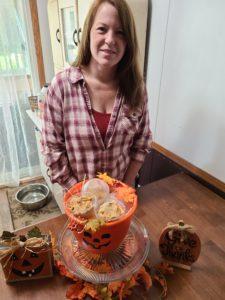 Pumpkin Pie Ice cream with Bourbon and Spice Praline Pecans