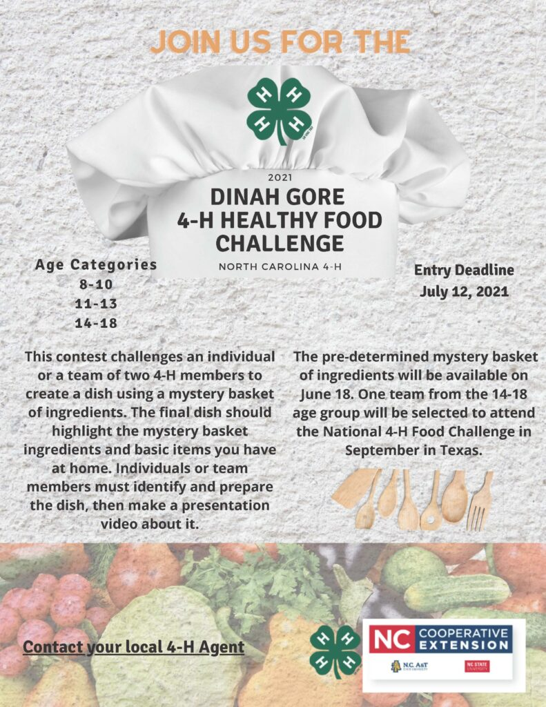 Healthy Food Challenge flyer